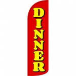 Dinner Red Extra Wide Windless Swooper Flag