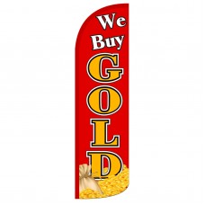 We Buy Gold Extra Wide Windless Swooper Flag