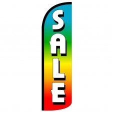 Sale Rainbow Extra Wide Windless Swooper Flag