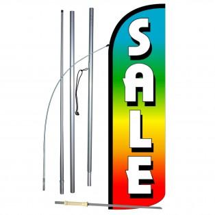 Sale Rainbow Extra Wide Windless Swooper Flag Bundle
