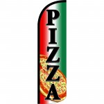 Pizza Extra Wide Windless Swooper Flag