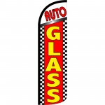 Auto Glass Extra Wide Windless Swooper Flag