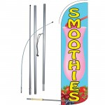 Smoothies Extra Wide Windless Swooper Flag Bundle