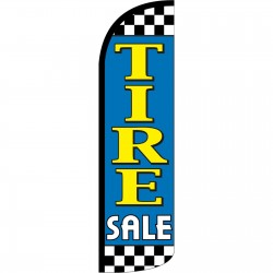 Tire Sale Blue Extra Wide Windless Swooper Flag
