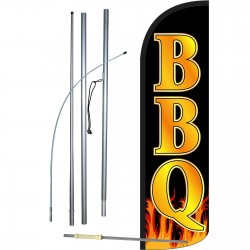 BBQ Extra Wide Windless Swooper Flag Bundle