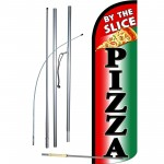 Pizza By the Slice Windless Swooper Flag Bundle