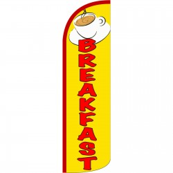 Breakfast Yellow Extra Wide Windless Swooper Flag