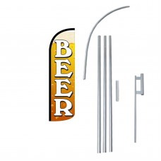 Beer Extra Wide Windless Swooper Flag Bundle