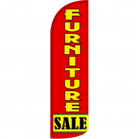 Furniture Sale Red Extra Wide Windless Swooper Flag