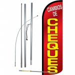 Cambios De Cheques Extra Wide Windless Swooper Flag Bundle