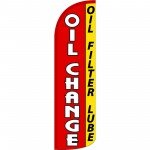 Oil Change Filter Lube Extra Wide Windless Swooper Flag