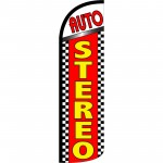 Auto Stereo Extra Wide Windless Swooper Flag