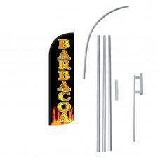 Barbacoa(BBQ) Extra Wide Windless Swooper Flag Bundle