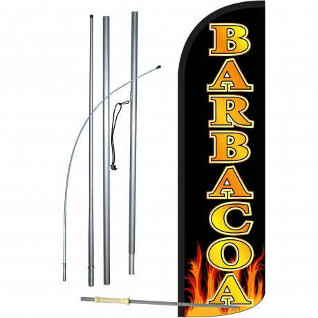Barbacoa Extra Wide Windless Swooper Flag Bundle