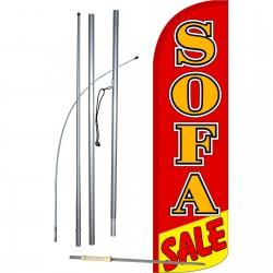 Sofa Sale Extra Wide Windless Swooper Flag Bundle
