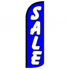 Sale Blue Extra Wide Windless Swooper Flag