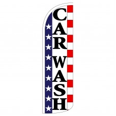 Car Wash Stars & Stripes Extra Wide Windless Swooper Flag