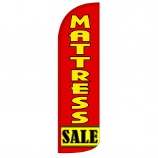 Mattress Sale Red Extra Wide Windless Swooper Flag