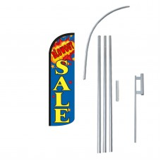 Blowout Sale Extra Wide Windless Swooper Flag Bundle