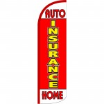 Insurance Auto Home Red Extra Wide Windless Swooper Flag