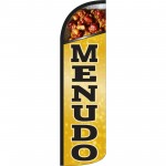Menudo Yellow Extra Wide Windless Swooper Flag