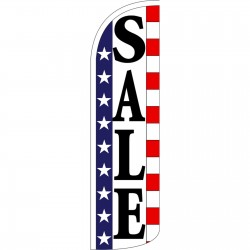 Sale Stars & Stripes Extra Wide Windless Swooper Flag