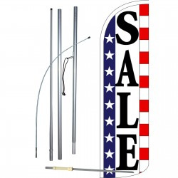 Sale Stars & Stripes Extra Wide Windless Swooper Flag Bundle