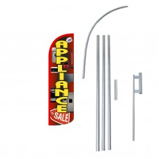 Appliance Sale Extra Wide Windless Swooper Flag Bundle