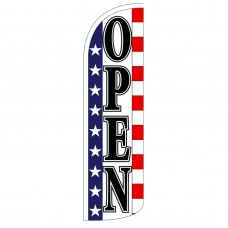 Open Stars & Stripes Extra Wide Windless Swooper Flag