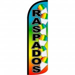 Raspados Rainbow Extra Wide Windless Swooper Flag