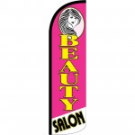Beauty Salon Pink Extra Wide Windless Swooper Flag