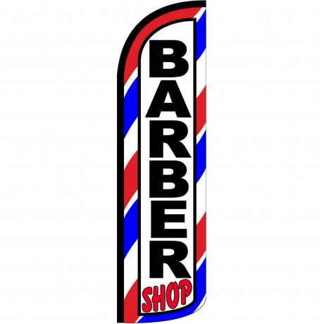 Barber Shop Extra Wide Windless Swooper Flag