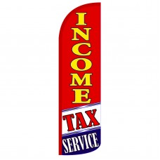 Income Tax Service R/Y Extra Wide Windless Swooper Flag