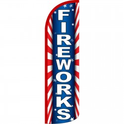 Fireworks Extra Wide Windless Swooper Flag