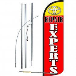 Toyota Repair Experts Extra Wide Windless Swooper Flag Bundle