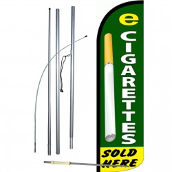 E-Cigarettes Sold Here Extra Wide Windless Swooper Flag Bundle