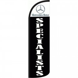 Mercedes-Benz Specialist Extra Wide Windless Swooper Flag