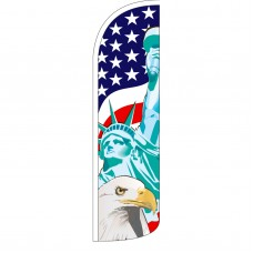 Lady Liberty/USA/American Eagle Extra Wide Windless Swooper Flag