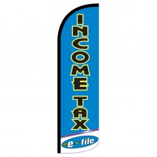 Income Tax E-File Extra Wide Windless Swooper Flag