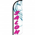Salon White Extra Wide Windless Swooper Flag