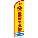 Tax Service E-File Extra Yellow Wide Windless Swooper Flag
