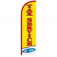 Tax Service E-File Extra Wide Windless Swooper Flag