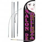 Salon De Belleza Extra Wide Windless Swooper Flag Bundle