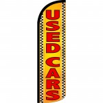 Used Cars Orange Extra Wide Windless Swooper Flag