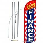 Easy Finance Extra Wide Windless Swooper Flag Bundle