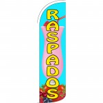 Raspados Blue Extra Wide Windless Swooper Flag