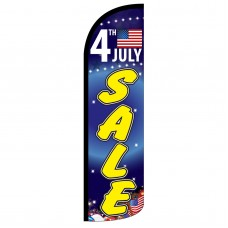 4th July Sale Extra Wide Windless Swooper Flag