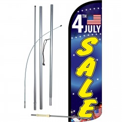 4th July Sale Extra Wide Windless Swooper Flag Bundle