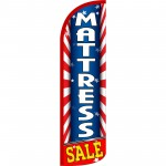 Mattress Sale USA Extra Wide Windless Swooper Flag