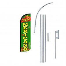 Comida Mexicana Extra Wide Windless Swooper Flag Bundle